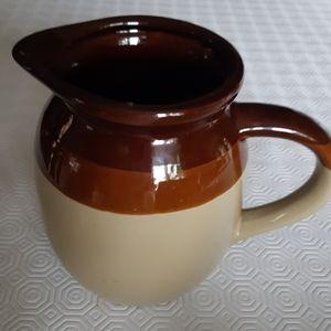Vintage three tone stoneware Taiwan pitcher